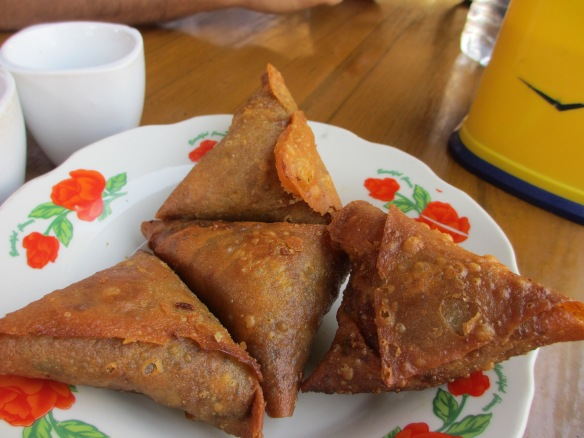 Teashop standard snacks - samosas. The more, the better.